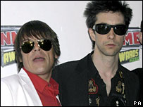 Mani and Bobby Gillespie of Primal Scream