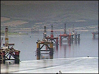 Rigs in Cromarty Firth