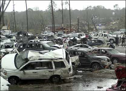 Estacionamiento en Enterprise, Alabama.