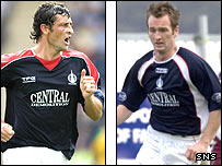 Falkirk captain Jack Ross (left) and Stephen O'Donnell