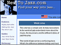 New To Jazz website
