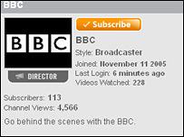 BBC YouTube screen shot