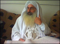 Kanzfra Sattar is one of only five Mandaean bishops left. BBC News.
