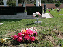 The unmarked grave of Ms Smith's son at Lakeview Memorial Gardens cemetery, Nassau, Bahamas