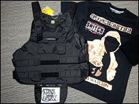 Imitation bullet-proof vest - photo supplied by MEN Syndication