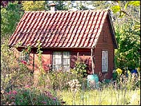 1940's summer house on German allotment