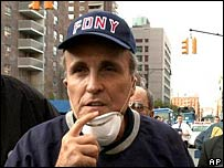 Rudy Giuliani in New York on 12 September 2001