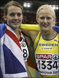 Kelly Sotherton and Carolina Kluft