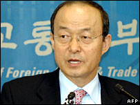 South Korean Foreign Minister Song Min-soon (file picture)