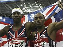 Phillips Idowu and Nathan Douglas