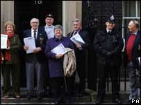 petition handed in