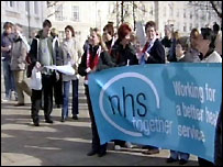The NHS protest in Maidstone