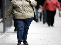 Obese woman