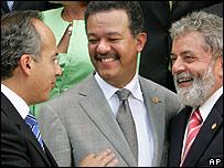 Felipe Calderón, Leonel Fernández y Luiz Inácio Lula da Silva