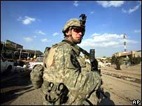 US soldier outside Sadr City - photo 18 February