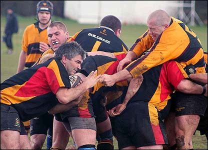 "Andrew O'Sullivan: ""I took this picture on a stormy Saturday afternoon in Nottingham during a West Bridgford RFC home match. It was a hard match, fought tooth and nail (literally) which West Bridgford"