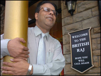 Masud Ahmed, manager of The British Raj restaurant