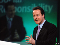 David Cameron addressing Welsh Conservatives