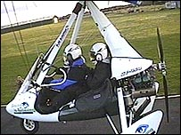 Miles Hilton-Barber and his co-pilot Storm Smith