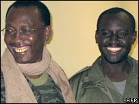 President Idriss Deby (left) and Mahamat Nour Abdelkerim (right)
