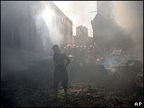 Devastation in Baghdad's commercial centre