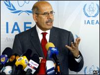 El director del Organismo Internacional de la Energía Atómica, Mohamed El Baradei