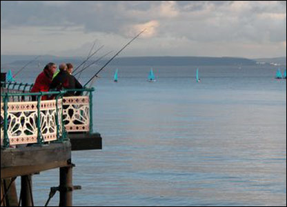 Fishing from Penarth Pier (Nigel Barnes)