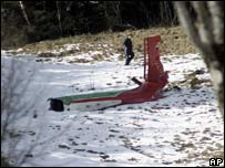 Wreckage in Austrian crash