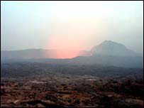 Afar volcano (pictured here by BBC News website reader Aaron Carson)