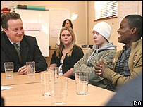Cameron in Hammersmith youth project