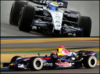 Monoplazas de Williams y Red Bull