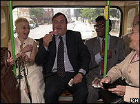 John Prescott on the bus