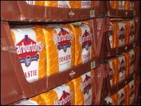 Crates of bread