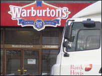 Rank Hovis truck at Warburtons