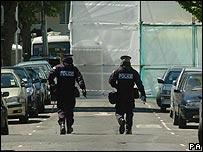 Scene of Forest Gate raid in June 2006