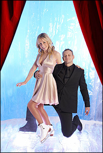 Dancing On Ice stars Clare Buckfield and Andrei Lipanov