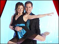 Melanie Lambert and Kyran Bracken in Dancing on Ice