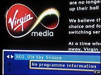 Virgin Media on-screen notice