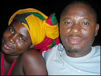 Ama Owusu and her husband Kamara