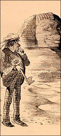 Tenniel's famous cartoon of Benjamin Disraeli