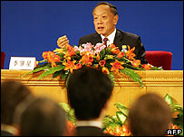 Li Zhaoxing gives press conference on 6 March 2007