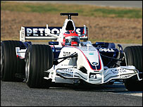 Robert Kubica in the new BMW Sauber at testing in Jerez, Spain