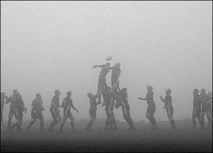 "Cameron Haworth: ""This picture was taken on a foggy day in Lymm when playing against Wilmslow in the Powergen North 2 west league"""