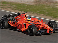 The new Spyker Formula One car