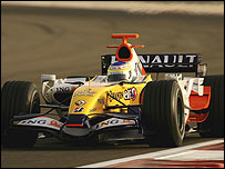 Giancarlo Fisichella in the new Renault