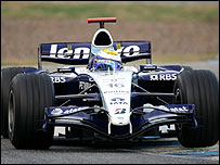 The Williams-Yoyota Formula One car