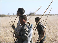 Hunters in Namibia: Anthropologists say primitive is pejorative