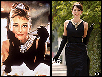 Audrey Hepburn in Breakfast at Tiffany's and her dress
