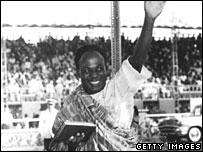 Kwame Nkrumah waves