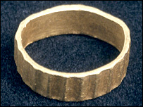Viking-style ring from the 9th or 10th Century, found at Nercwys, Flintshire